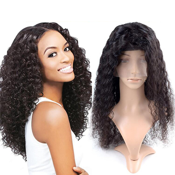 Black Aliexpress Indian Kinky Curly Yaki Human Hair Wigs For Black Women