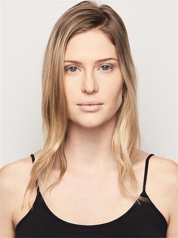 Blonde Synthetic Hair Bun Interlocking Clips Falls & Half