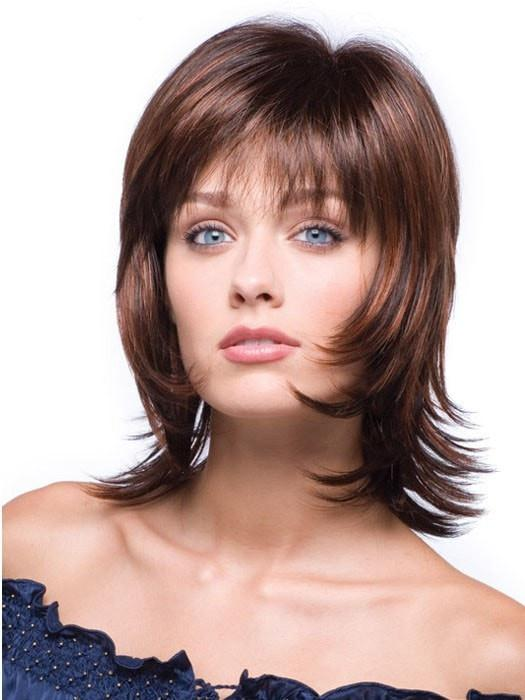 Straight Brunette Rooted Synthetic Blonde Wig