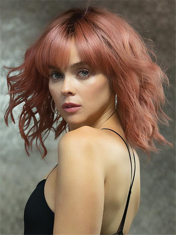 Colored Breezy Wavez HF Synthetic Wig
