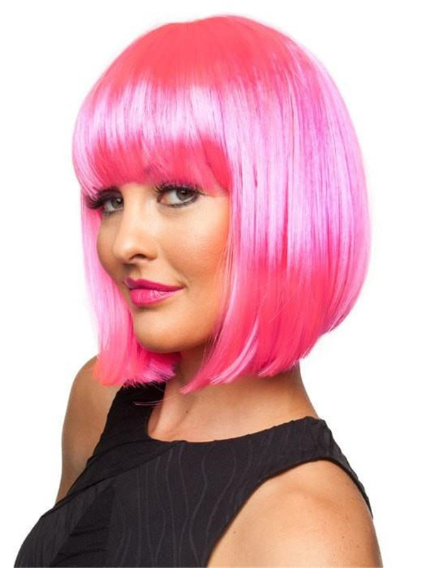 Colored Chic Doll Synthetic Wig Basic Cap