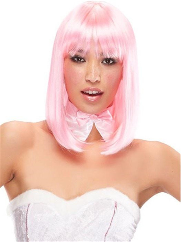 Colored China Doll Long Synthetic Wig Basic Cap