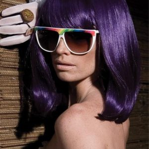 Colored GoGo Girl Synthetic Wig Basic Cap