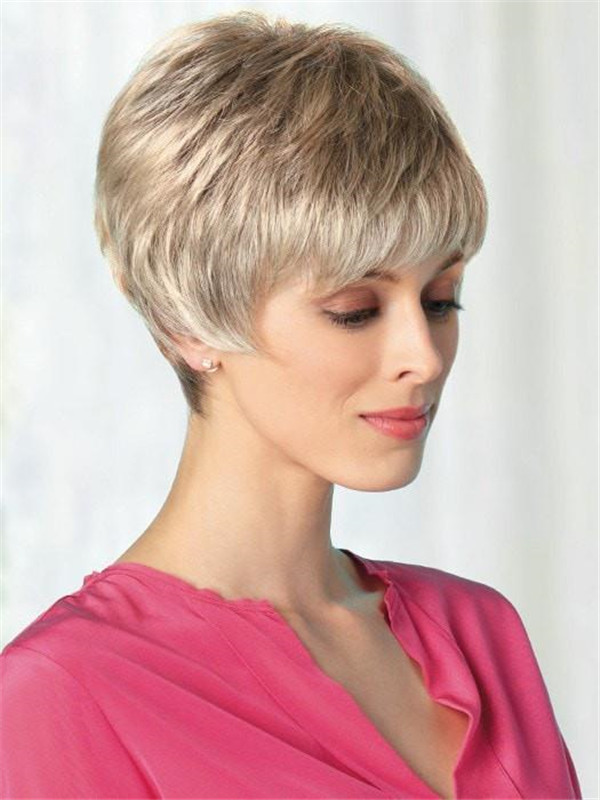 Blonde Women's Wigs Synthetic Wig Mono Top