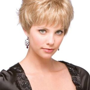 Blonde Women's Wigs Synthetic Wig Mono Top