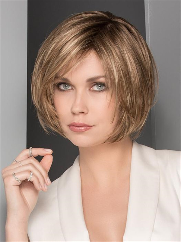 Blonde&Gray Synthetic Lace Front Wig Hand-Tied