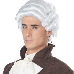 White Powder Colonial Period Gentlemen's Wig
