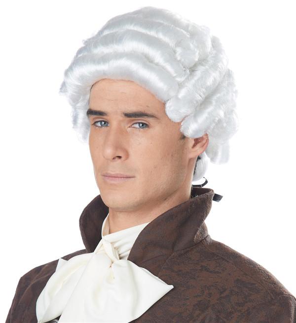 White Powder Colonial Period Gentlemen's Wig