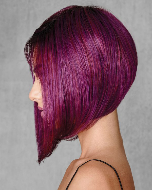 U Part Human Hair Midnight Berry Synthetic Wig By Hair Do