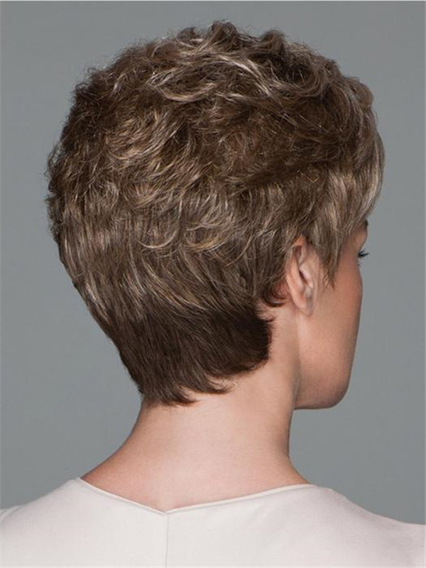Blonde Pixie Synthetic Lace Front Wig Hand-tied Top