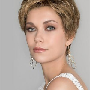 Blonde Monofilament Synthetic Lace Front Wig Hand-Tied