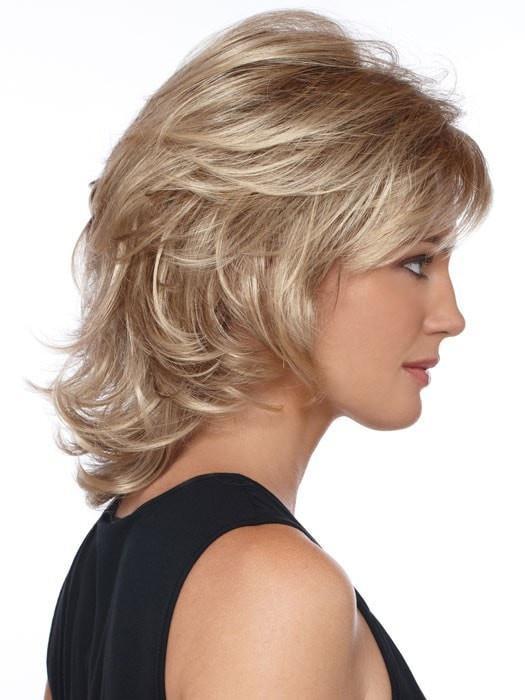 Gray Brunette Synthetic Wig Basic Cap For Women