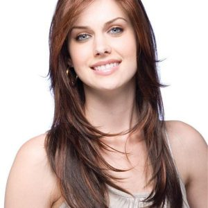 Red Angelica Synthetic Wig Basic Cap