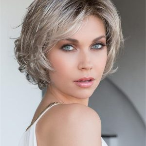 Gray Synthetic Lace Front Wig Hand-Tied