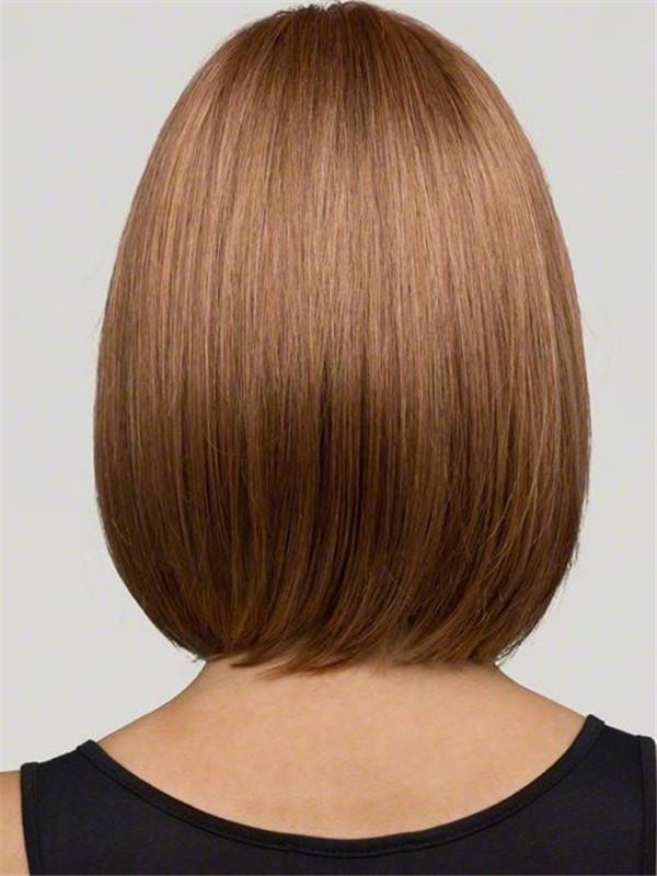 Gray Bob Short Synthetic Wig Mono Top