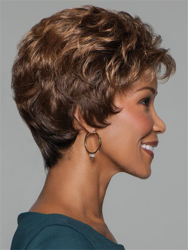 Women's Blonde Synthetic Wig Basic Cap
