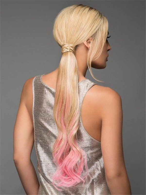 Colored Hf Synthetic Ponytail Wrap-around Hair Wraps