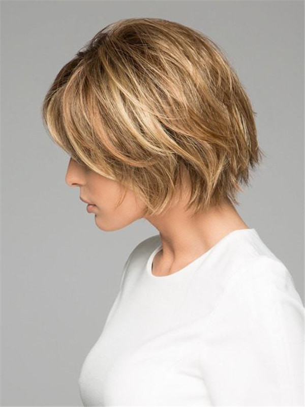 Blonde Women's Synthetic Lace Front Wig Mono Part