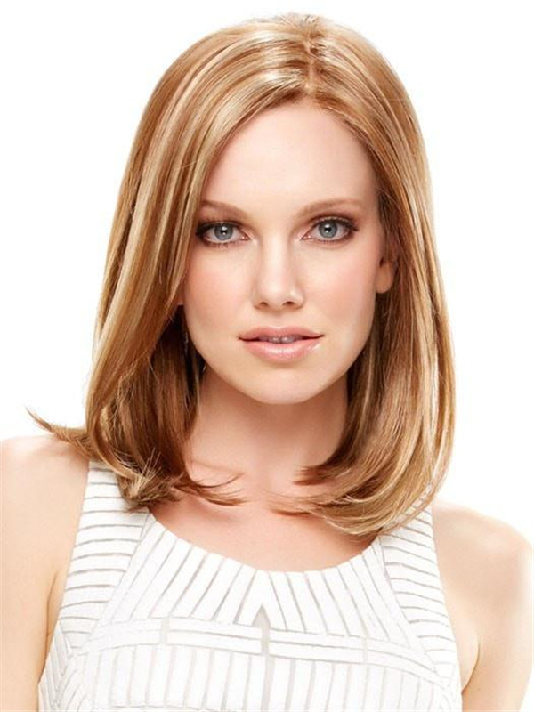 Blonde Rooted Synthetic Lace Front Wig Mono Top