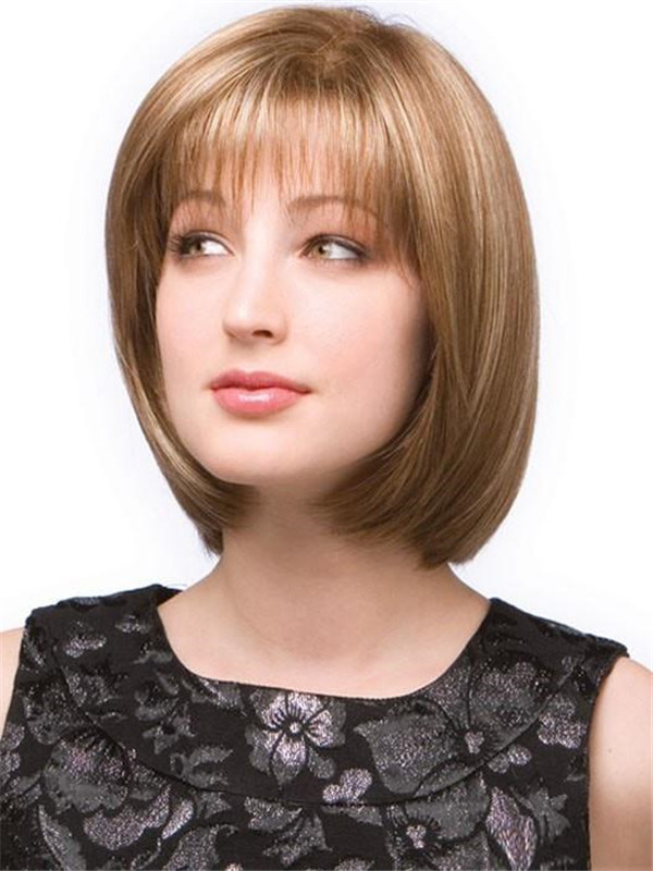 Black Erika Synthetic Wig Mono Top