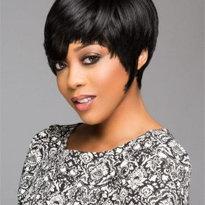 Black Brunette African American HF Synthetic Wig Basic Cap