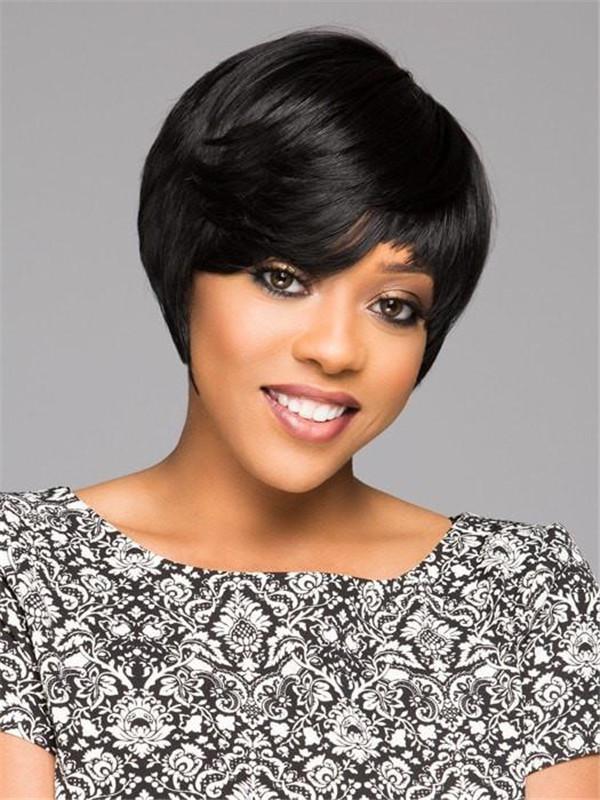 Black Brunette African American HF Synthetic Wig Basic Cap