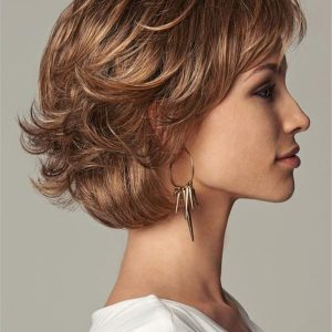 Brown Everyday Elegant Synthetic Lace Front Wig Mono Part