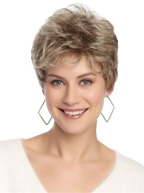 Black Brunette Women's Synthetic Wig Basic Cap