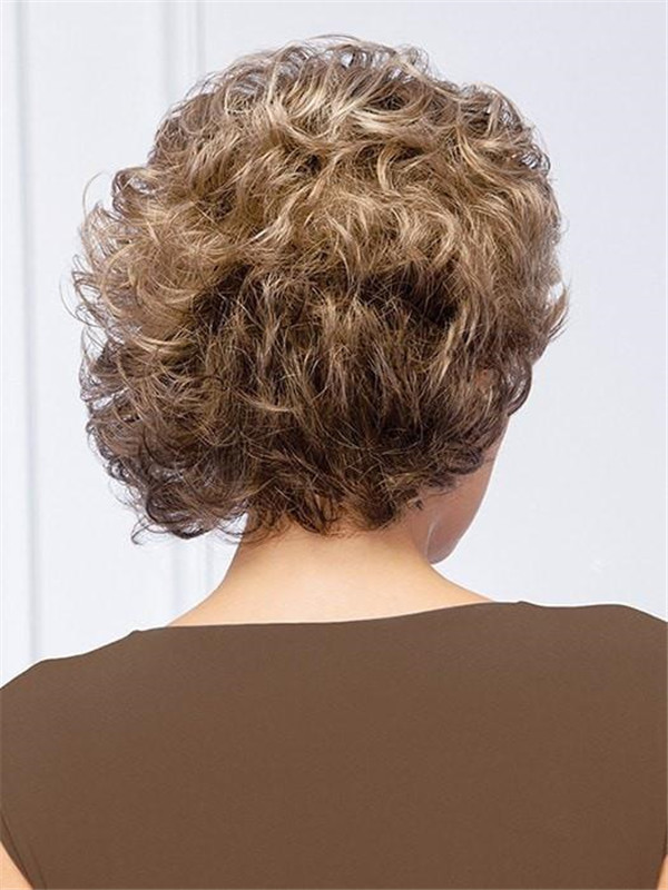 Blonde Synthetic Wig Basic Cap For Women