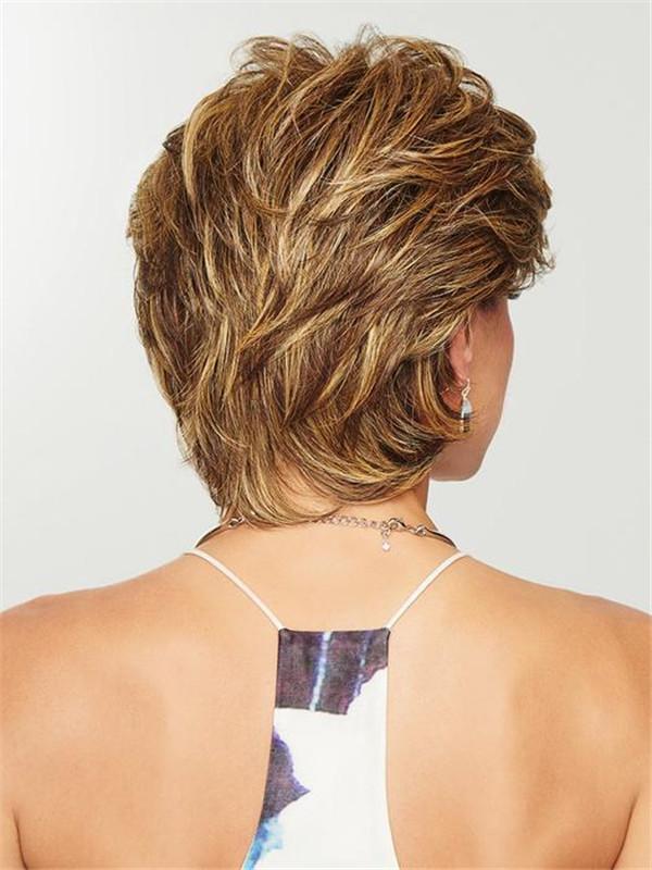 Black Women's Brunette Hf Synthetic Wig Basic Cap