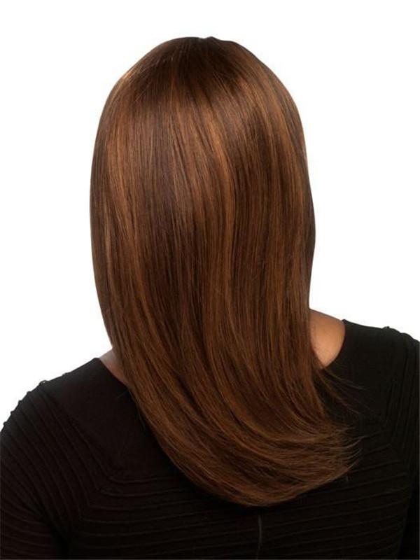 Blonde African American Human Hair Wig Center Skin Part