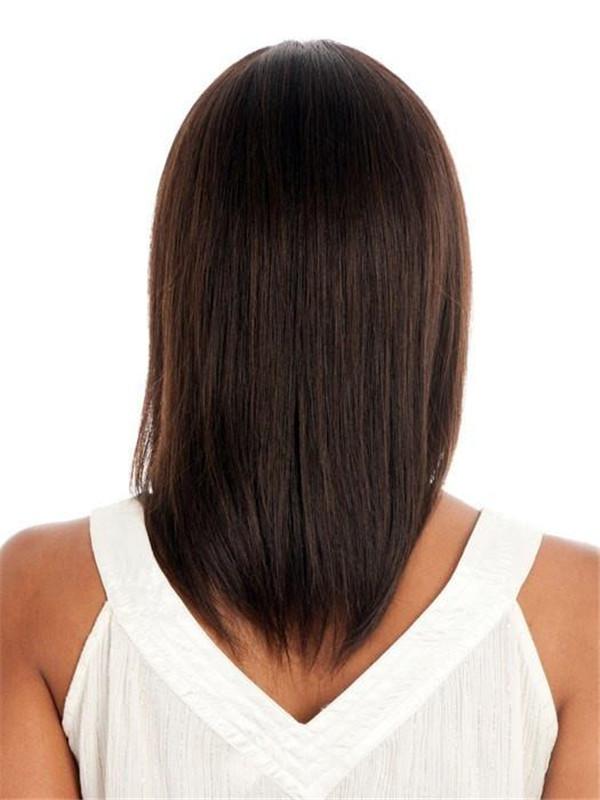 Blonde Brunette Human Hair Wig Center Skin Part