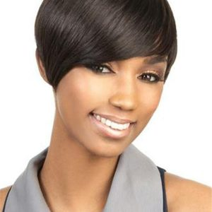 Black H-volta Human Hair Wig Basic Cap