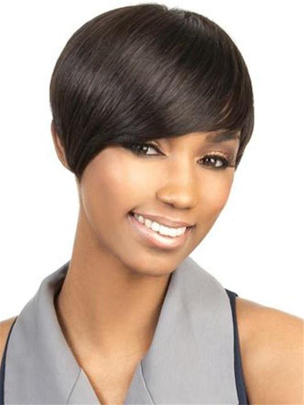 Black H-volta Human Hair Wig Basic Cap