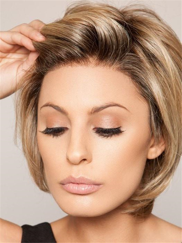 Black Brunette HF Synthetic Lace Front Wig Basic Cap