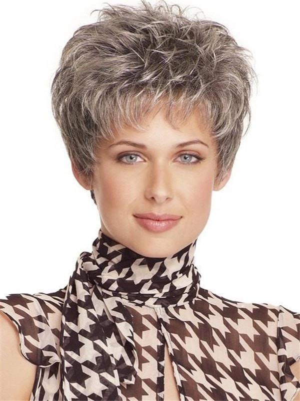 Gray Incentive Petite Synthetic Wig Mono Top
