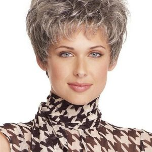 Gray Incentive Synthetic Wig Mono Top