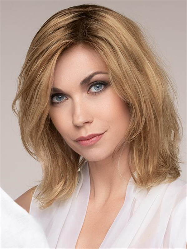 Blonde Human Hair Lace Front Wig 100% Hand-tied