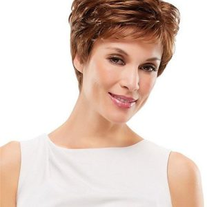 Gray Rooted Synthetic Wig Basic Cap
