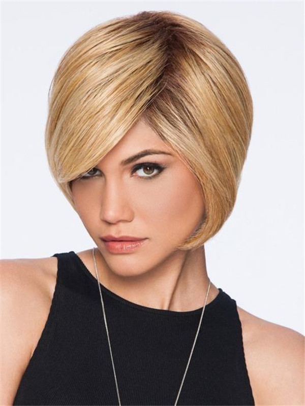 Black Brunette Hf Synthetic Wig Basic Cap For Women