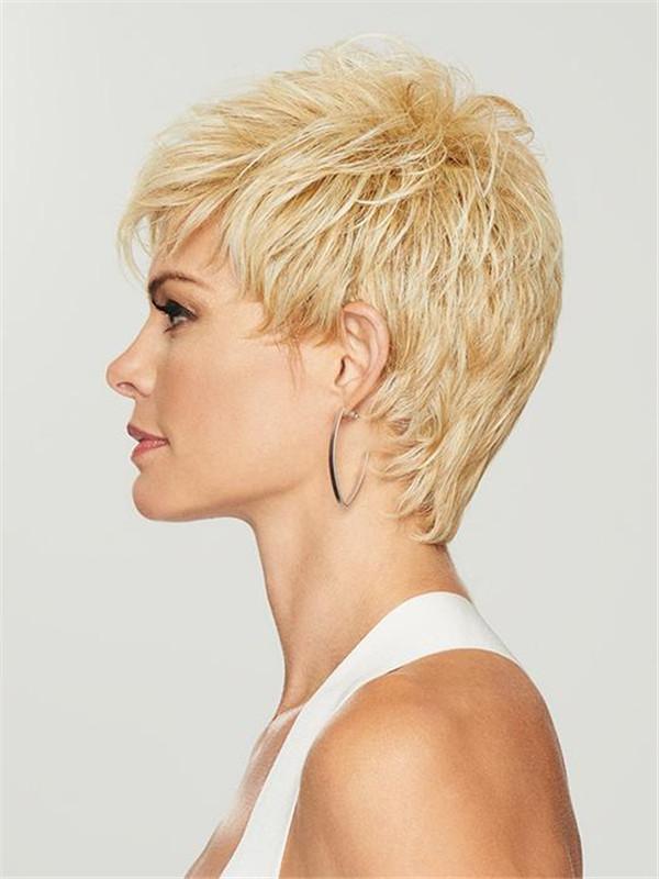 Gray Brunette Hf Synthetic Wig Basic Cap