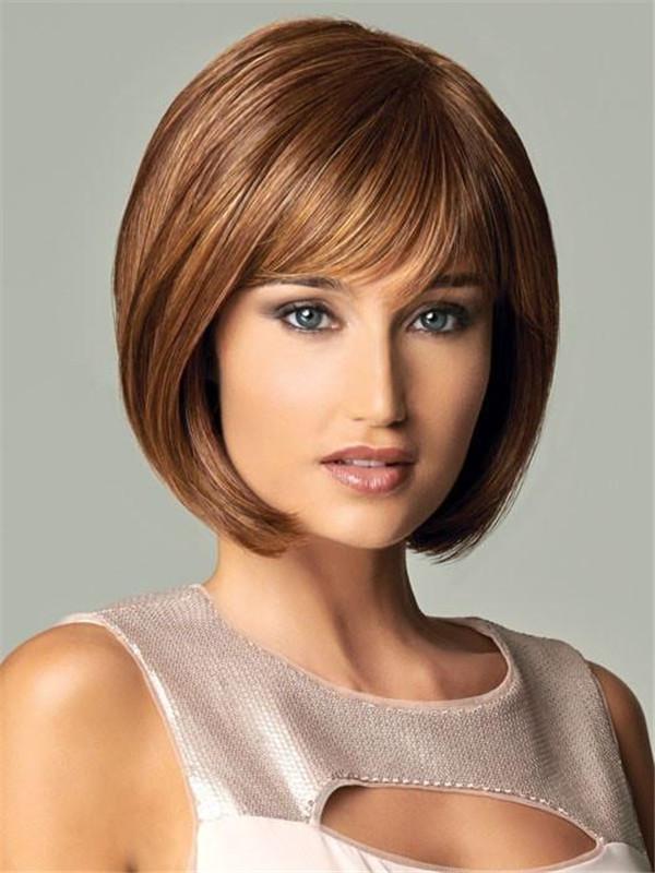 Black Brunette Hf Synthetic Wig Basic Cap