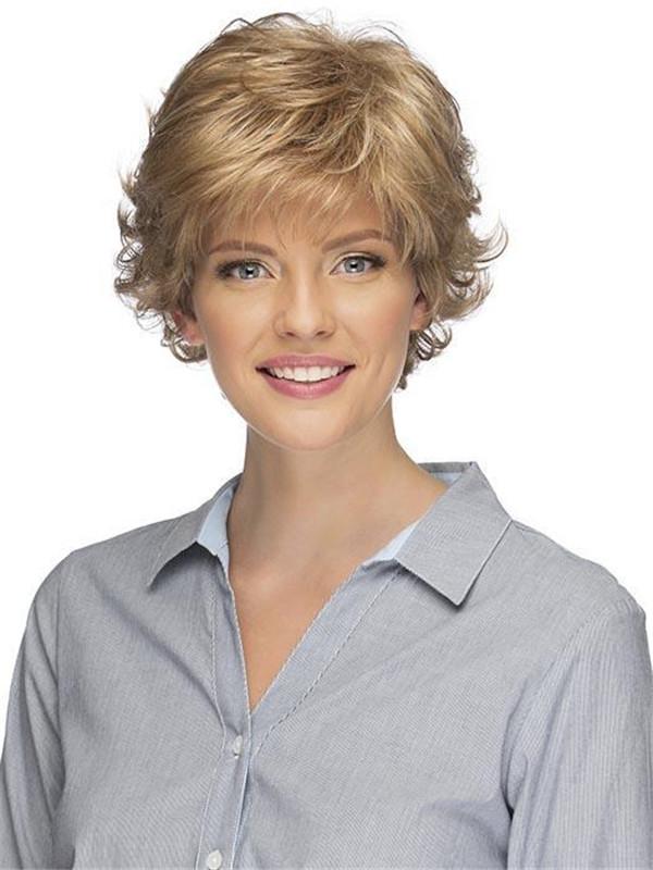 Gray Women's Brunette Synthetic Wig Basic Cap