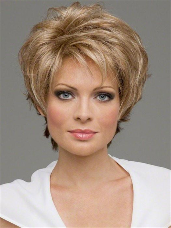 Red Rooted Synthetic Lace Front Wig Mono Top