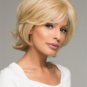 Black Monofilament Synthetic Lace Front Wig Mono Top By Layered