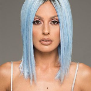 Colored Rooted Hf Synthetic Wig Basic Cap