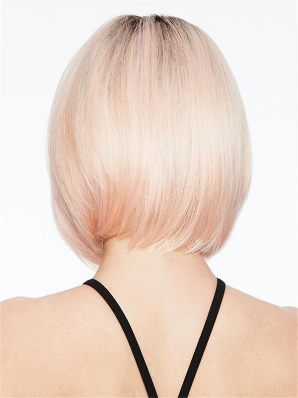 Colored Bob & Rooted Hf Synthetic Wig Basic Cap