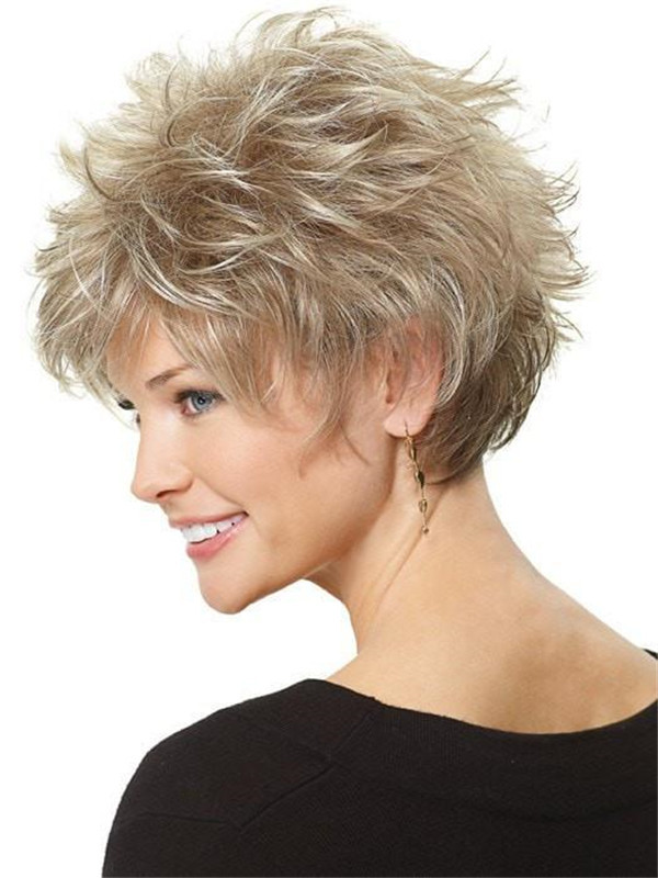 Gray Synthetic Wig Basic Cap