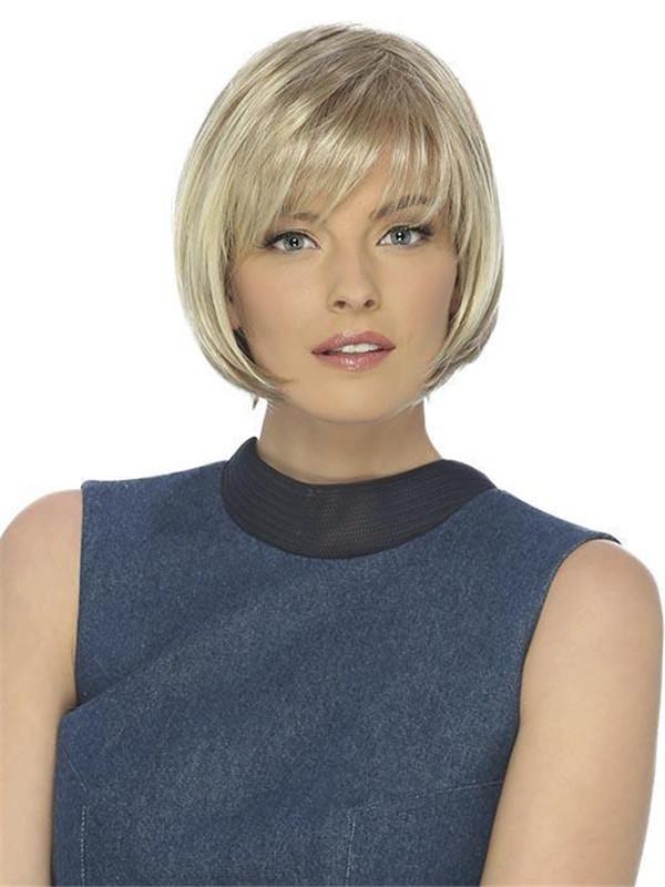 Gray Bob Synthetic Wig Basic Cap For Women