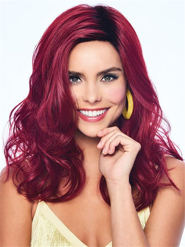 Colored Hf Synthetic Wig Basic Cap For Women